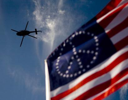 flag & helicopter